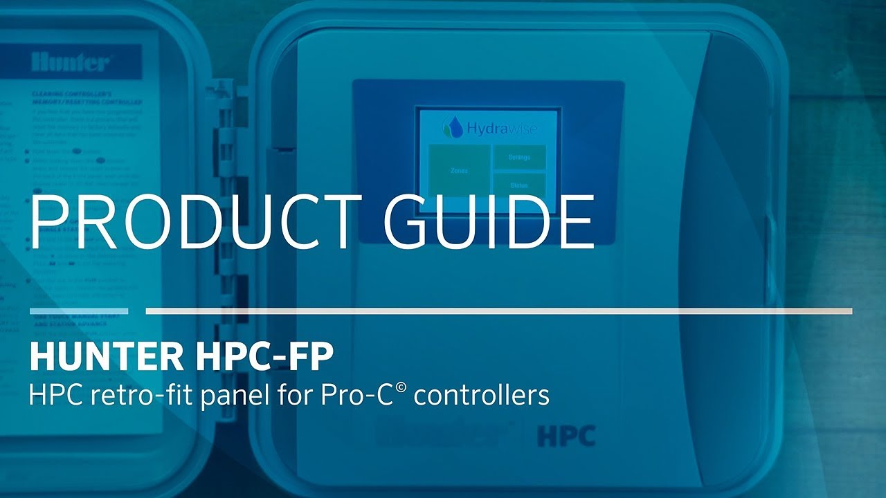 hunter hpc-fp | hpc retro-fit panel for pro-c controllers - youtube