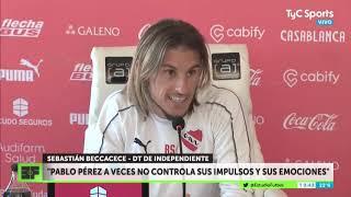"""Sebastián Beccacece: """"Pablo Pérez a veces no controla sus impulsos y emociones"""""""