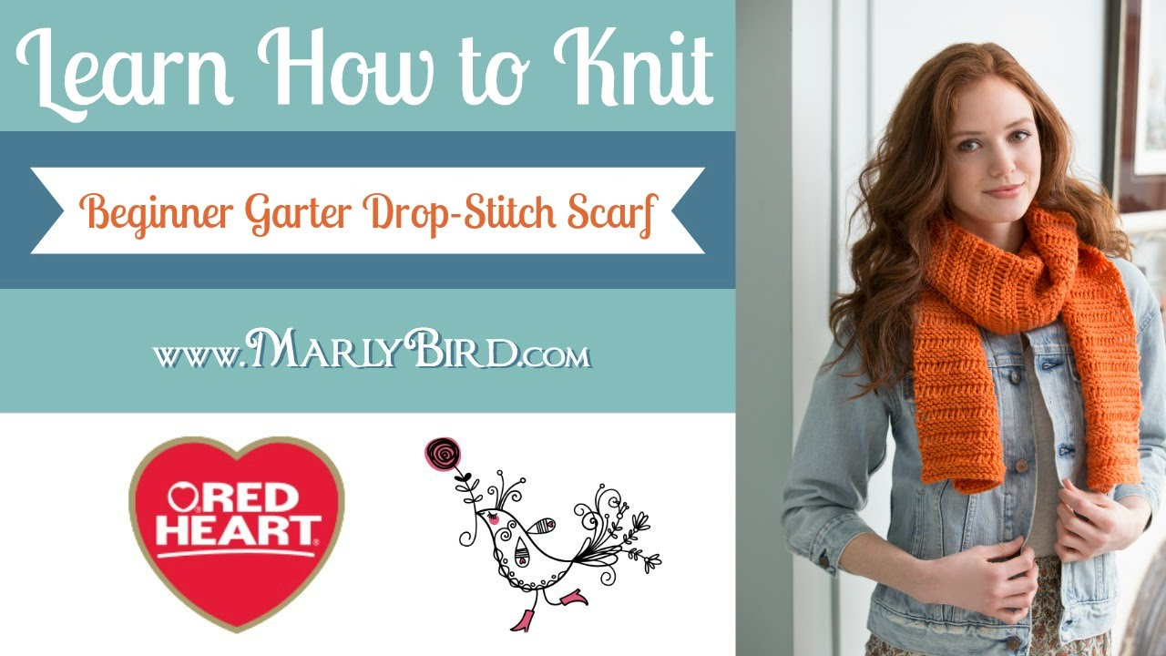 Learn how to knit the beginner garter drop stitch scarf with marly learn how to knit the beginner garter drop stitch scarf with marly bird youtube bankloansurffo Images