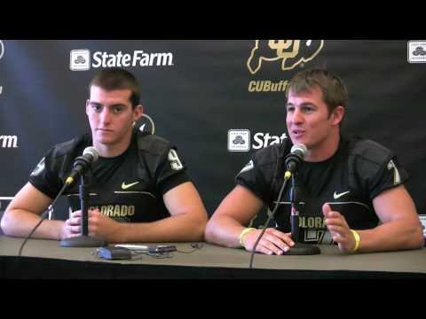 2009 Football Media Day Cody Hawkins, Tyler Hansen and Darrell Scott