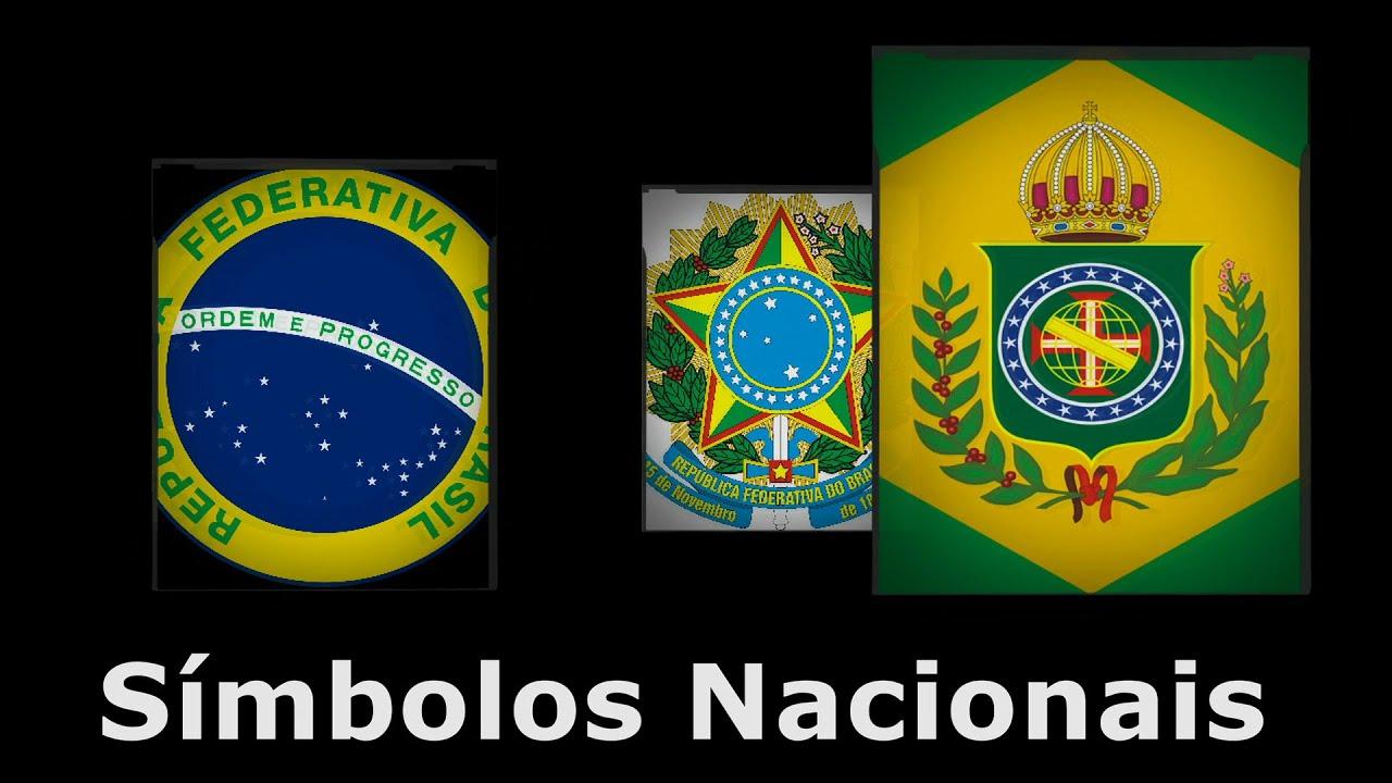 A Primeira Bandeira Do Brasil Republica símbolos nacionais - brasão da república