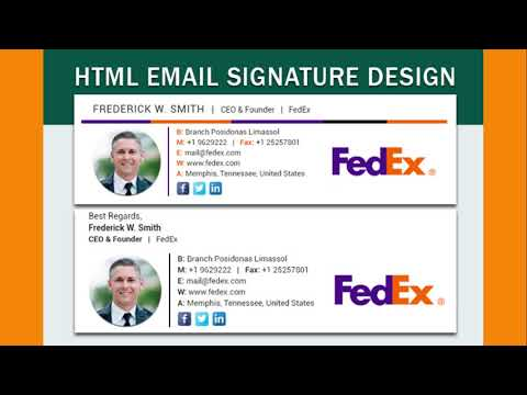 How To Create HTML Email Signature Design?