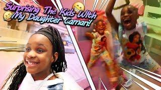 Surprising The Kids With My Daughter Camari!