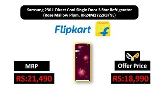 Samsung 230 L Direct Cool Single Door 3 Star Refrigerator  (Rose Mallow Plum, RR24M2Y2ZR3/NL)