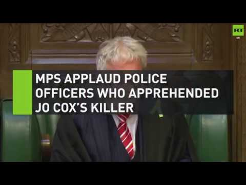 MPs applaud police officers who apprehended Jo Cox's killer