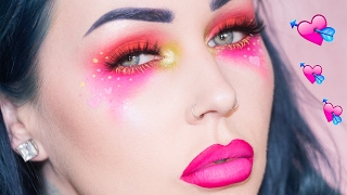 Bright Colorful Valentine's Day Makeup Tutorial | KristenLeanneStyle