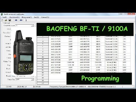 Baofeng T1 radio : 446Mhz pmr 9100 Programming software