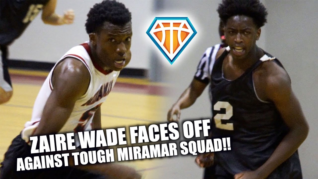 Zaire Wade FACES OFF AGAINST A TOUGH MIRAMAR SQUAD!! | Full Highlights
