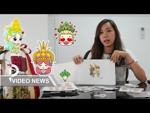 Cambodian artist draws praise for her hand-drawn painting 'L