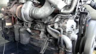 いすゞ大型ギガCYL51V3W、6WF1エンジンのベンチテスト作業風景