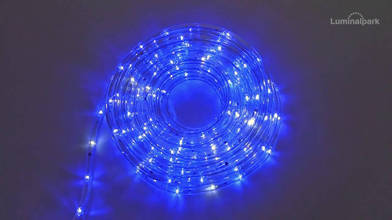 Tubo luminoso 13 mm 230v 8 m led blu flashled cod for Luci tubolari a led
