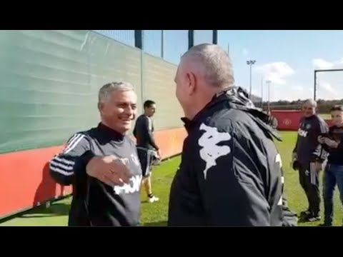 WHEN 'THE SPECIAL ONE' JOSE MOURINHO MET THE FURYS! - EXCLUSIVE MAN UTD TRAINING GROUND FOOTAGE