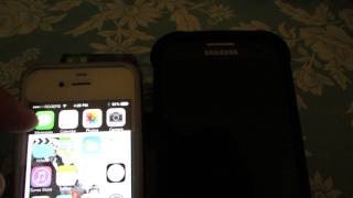 How to send a Text message from Apple Iphone to Samsung Galaxy S4?