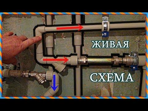 █ Всё по / ВОДОПРОВОД В КВАРТИРЕ / РАЗМЕРЫ ЖИВАЯ СХЕМА / plumbing.