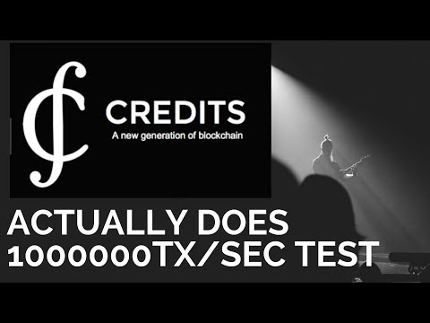 CREDITS CRYPTOCURRENCY PROVES IT IS CAPABLE OF A MILLION TRANSACTION PER SECOND
