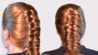 Как Заплести Рыбий Хвост Наоборот Видео Урок Онлайн| How to Fishtail Braid Contrast Video Tutorial