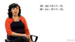 Математика. Решение неравенств с одной переменной #1