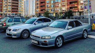 ЯПОНЕЦ VS НЕМЕЦ! Кто быстрее? BMW 5 E60 или NISSAN SKYLINE!?