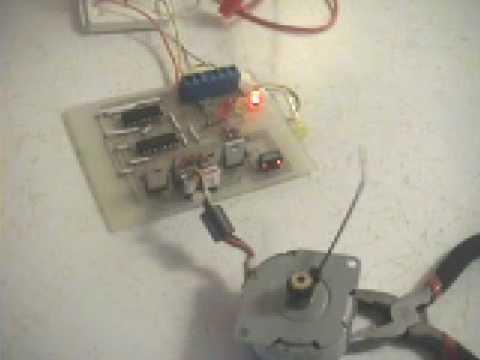 Stepper Motor Controller on homemade pcb