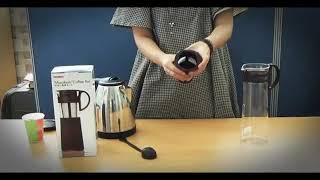 하리오 미즈다시 커피포트를 사용한 침출식 더치커피 만들…
