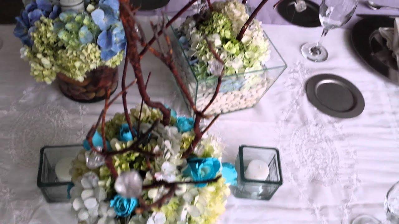 Centro de mesa para boda youtube - Centros de mesa con pinas secas ...