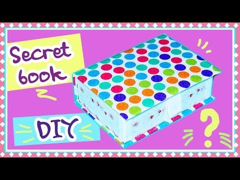 Cara Membuat Kotak Rahasia   DIY Buku Kotak Penyimpanan Rahasia