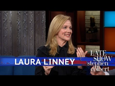 Stephen Colbert vs. Laura Linney Still Doesn't Feel Like She's Made It