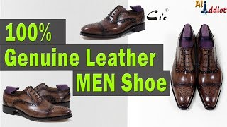 100% Genuine Calf Leather Handmade Men