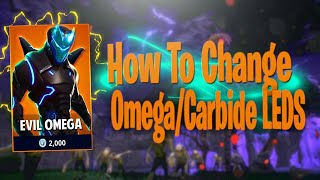 How to change LIGHTS on OMEGA/CARBIDE skin Fortnite Battle Royale