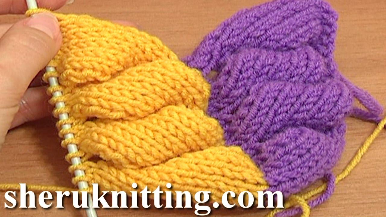 Wool Knitting Tutorial : D knit wheat ear stitch pattern tutorial part of