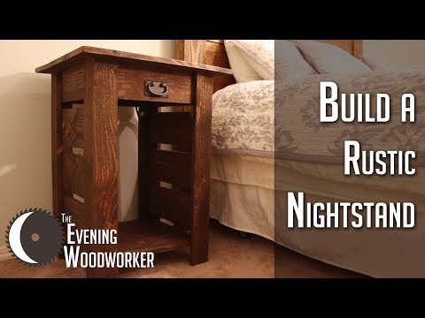 How to Build Rustic Nightstands with Built-in Power Outlet