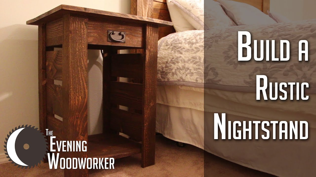 How to Build Rustic Nightstands with Built in Power Outlet