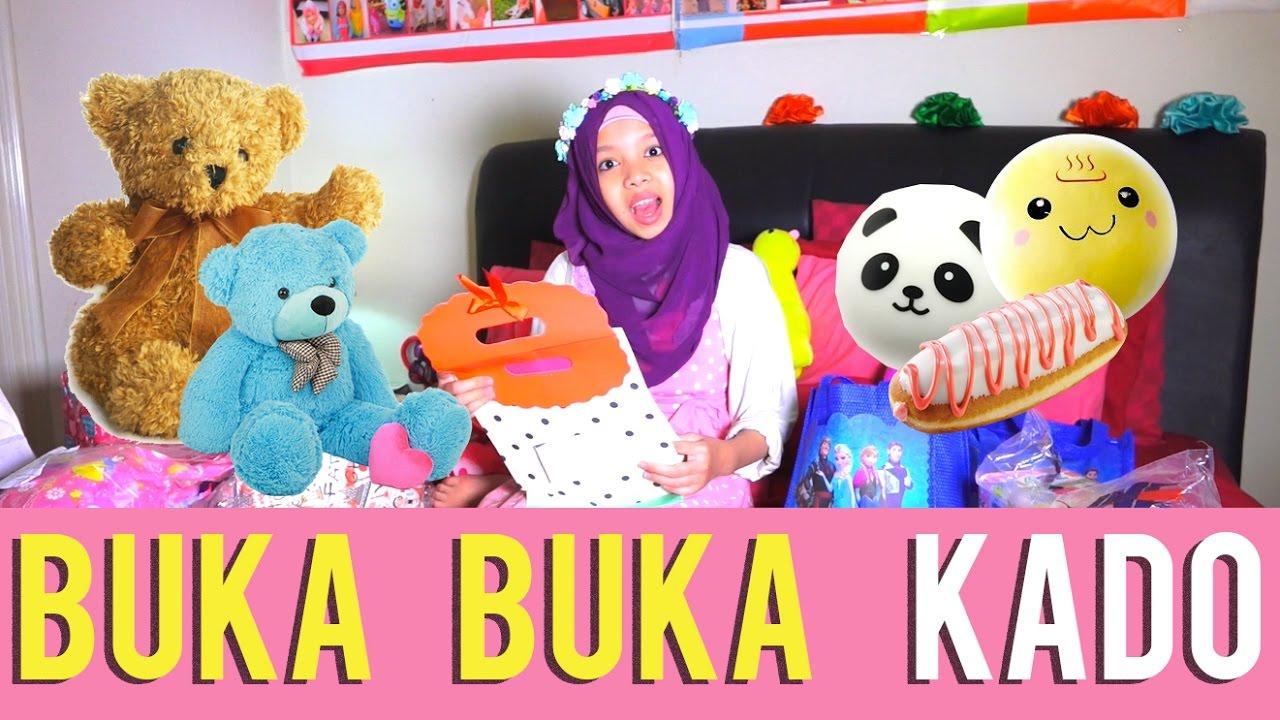 Squishy Gen Halilintar : BUKA BUKA KADO + DAPET BANYAK SQUISHY, BONEKA, TAS PART 1 Fatimah halilintar - YouTube