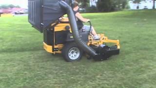Hustler Super Z Diesel with PV 18 Lawn Vacuum, Leaf Vacuum, Grass Catcher