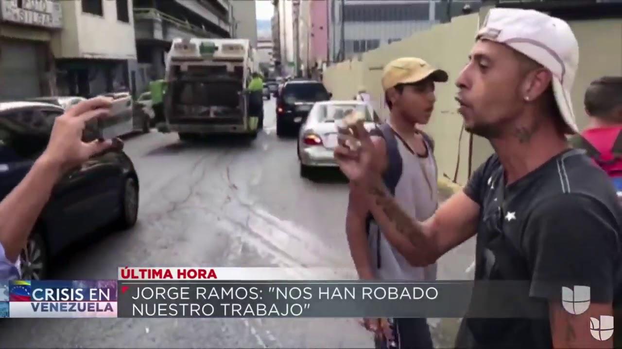 1era declaración del periodista Jorge Ramos tras ser liberado de la retención ilegal en Venezuela