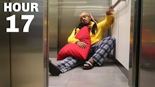 Living in a ELEVATOR for 24 HOURS Challenge