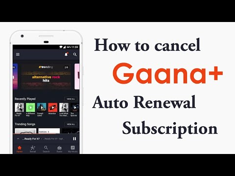 HOW TO CANCEL AUTO RENEWAL OF GAANA+ - YouTube