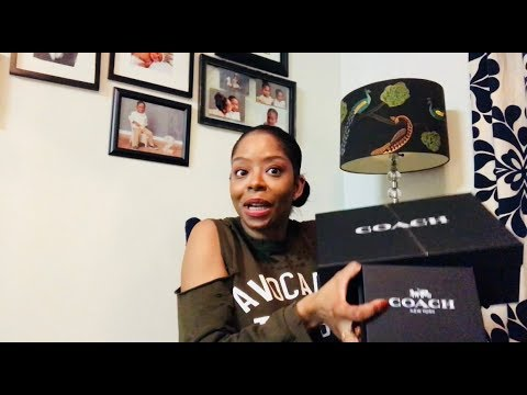Coach Unboxing: Coach Signature Belt and Coach Rexy Sneakers