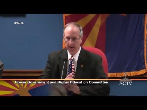 AZ House Govt Higher Ed Committee