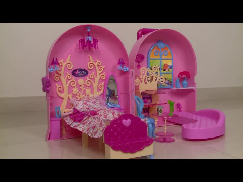 Barbie Doll Bag | Carry A Home Kids Bag | Doll House | Toys Unboxing And Review | Kids Toys
