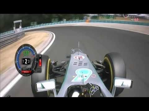 F1 2013 Hungaroring Q3 - L Hamilton Pole Lap 1:19.388
