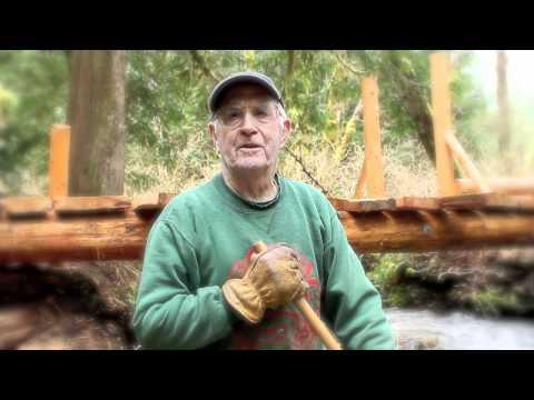 cable trail bridge building washout creek