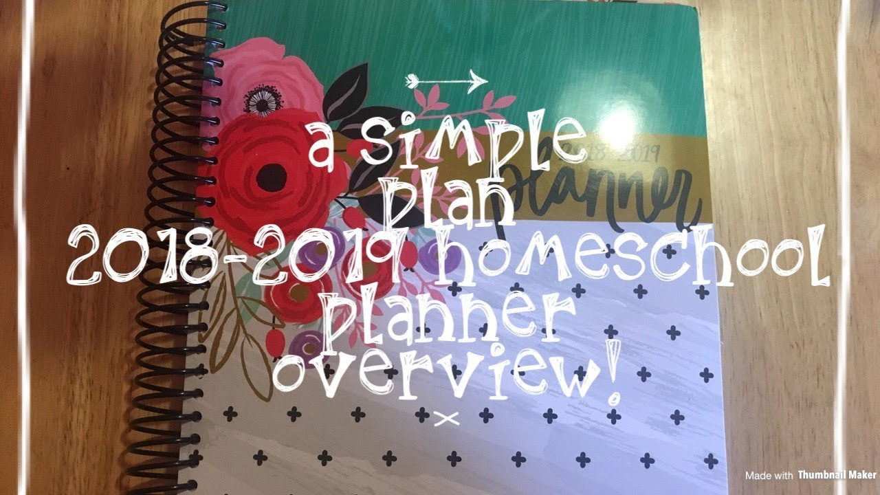 mardel s a simple plan 2018 2019 homeschool planner overview youtube