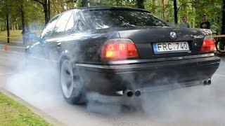 Bmw E38 740i 4.0 V8 Burnout and Acceleration - Drag Race 2016 By Race4you.lt(, 2016-09-02T20:02:52.000Z)
