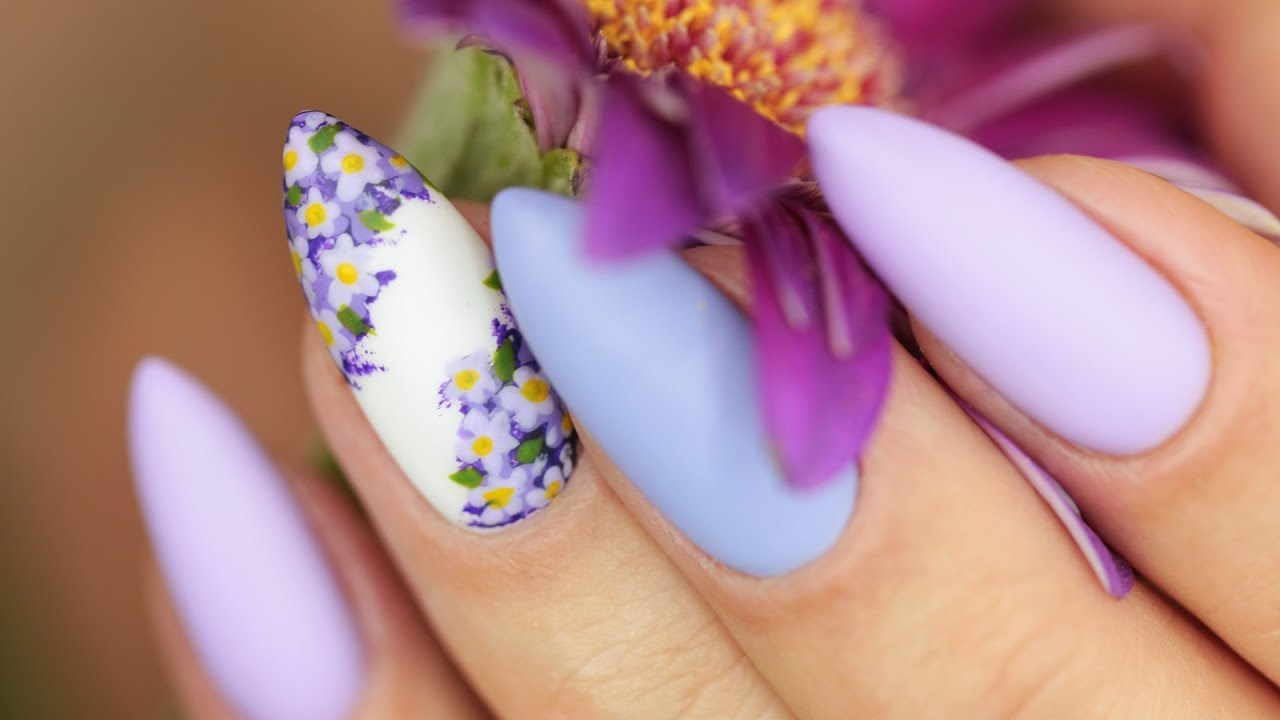 Wiosenne Paznokcie Kwiaty Bzu Semilac Youtube