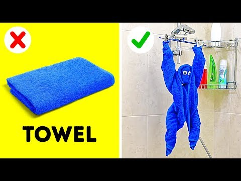 28 CLEVER TOWEL HACKS AND IDEAS