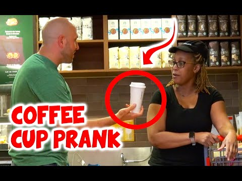 COFFEE CUP PRANK!