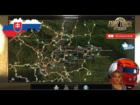 Euro Truck Simulator 2 (1.33) New Slovakia Map by KimiSlimi V11 = 1.33.2 + DLC's & Mods