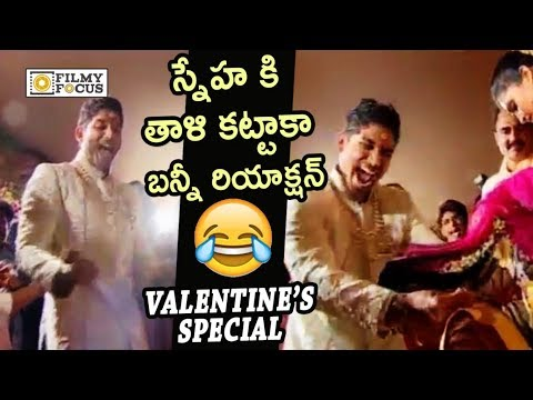 Allu Arjun Fun with Sneha Reddy at Marriage : Unseen Video | Valentine's Day Special thumbnail