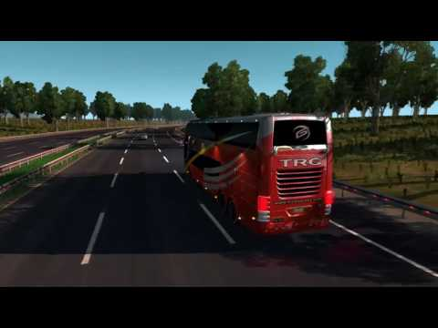 American Truck Simulator Bus trip to Omaha with Comil Campione 6x2 Volvo